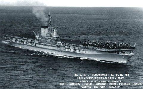 Cold Spring Mn >> USS FRANKLIN D. ROOSEVELT (CV-42) Deployments & History